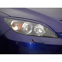Реснички Mazda 3 sedan, накладки на фары Мазда 3 седан