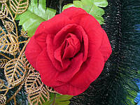 Головка бархатной розы крупной