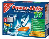 Бесфосфатные таблетки для посудомоечных машин  G&G Power Aktiv 10 Geschirrreiniger-Tabs  40 шт.