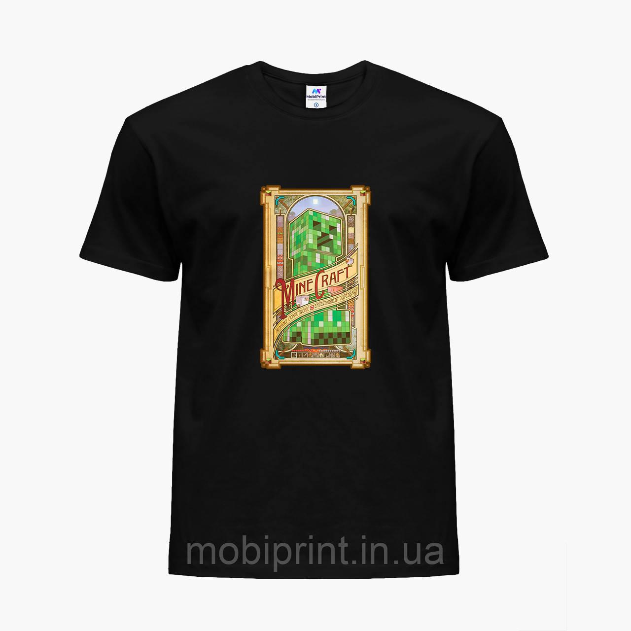 Детская футболка для мальчиков Майнкрафт (Minecraft) (25186-1178) Черный