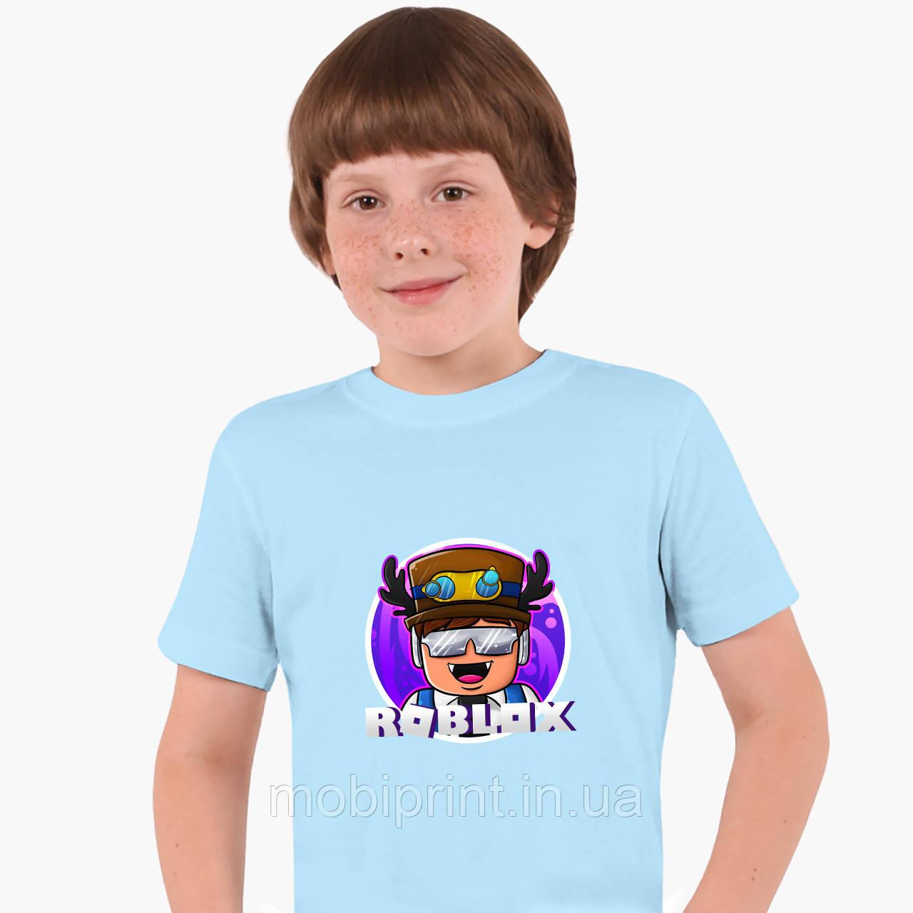 Детская футболка для мальчиков Роблокс (Roblox) (25186-1218) Голубой