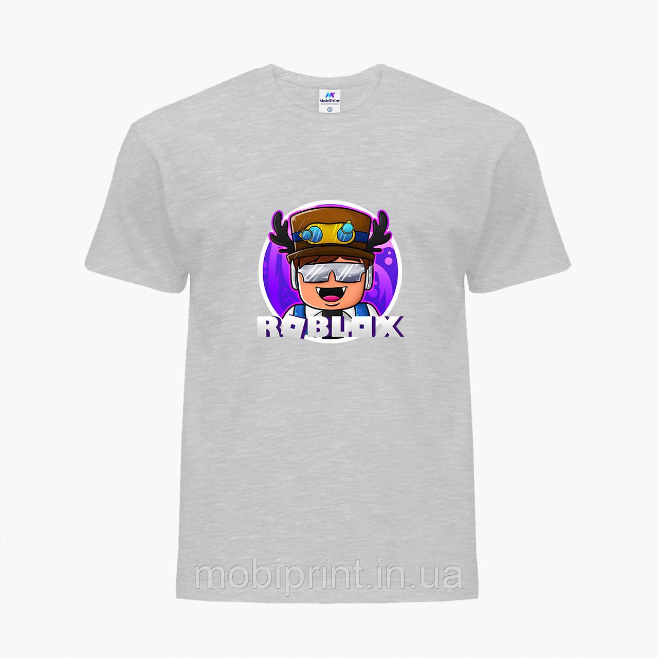 Детская футболка для мальчиков Роблокс (Roblox) (25186-1218) Светло-серый