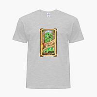 Детская футболка для мальчиков Майнкрафт (Minecraft) (25186-1178) Светло-серый, фото 1