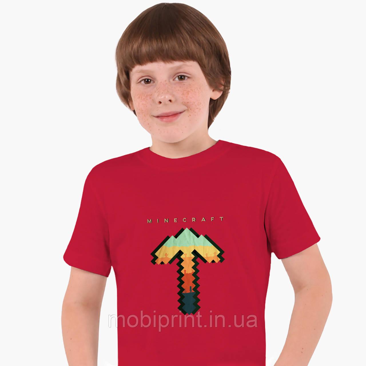 Детская футболка для мальчиков Майнкрафт (Minecraft) (25186-1169) Красный