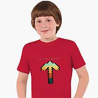 Детская футболка для мальчиков Майнкрафт (Minecraft) (25186-1169) Красный, фото 1