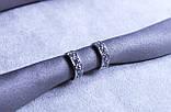 Сережки фірми Xuping ( Rhodium color 5), фото 2