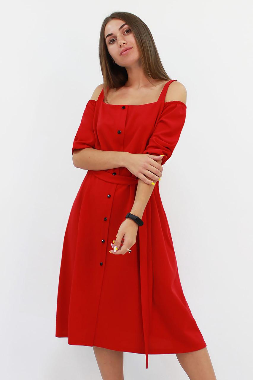 Зручне повсякденне плаття Francheska, червоний