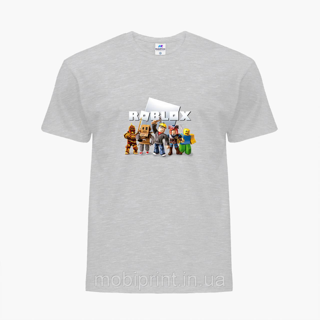Детская футболка для мальчиков Роблокс (Roblox) (25186-1219) Светло-серый