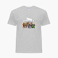 Детская футболка для мальчиков Роблокс (Roblox) (25186-1219) Светло-серый, фото 1