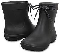 Женские дождевики (женские резиновые сапоги) Crocs Freesail Shorty RainBoot, оригинал (203851) черный, 35