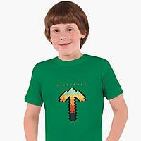 Детская футболка для мальчиков Майнкрафт (Minecraft) (25186-1169) Зеленый, фото 1