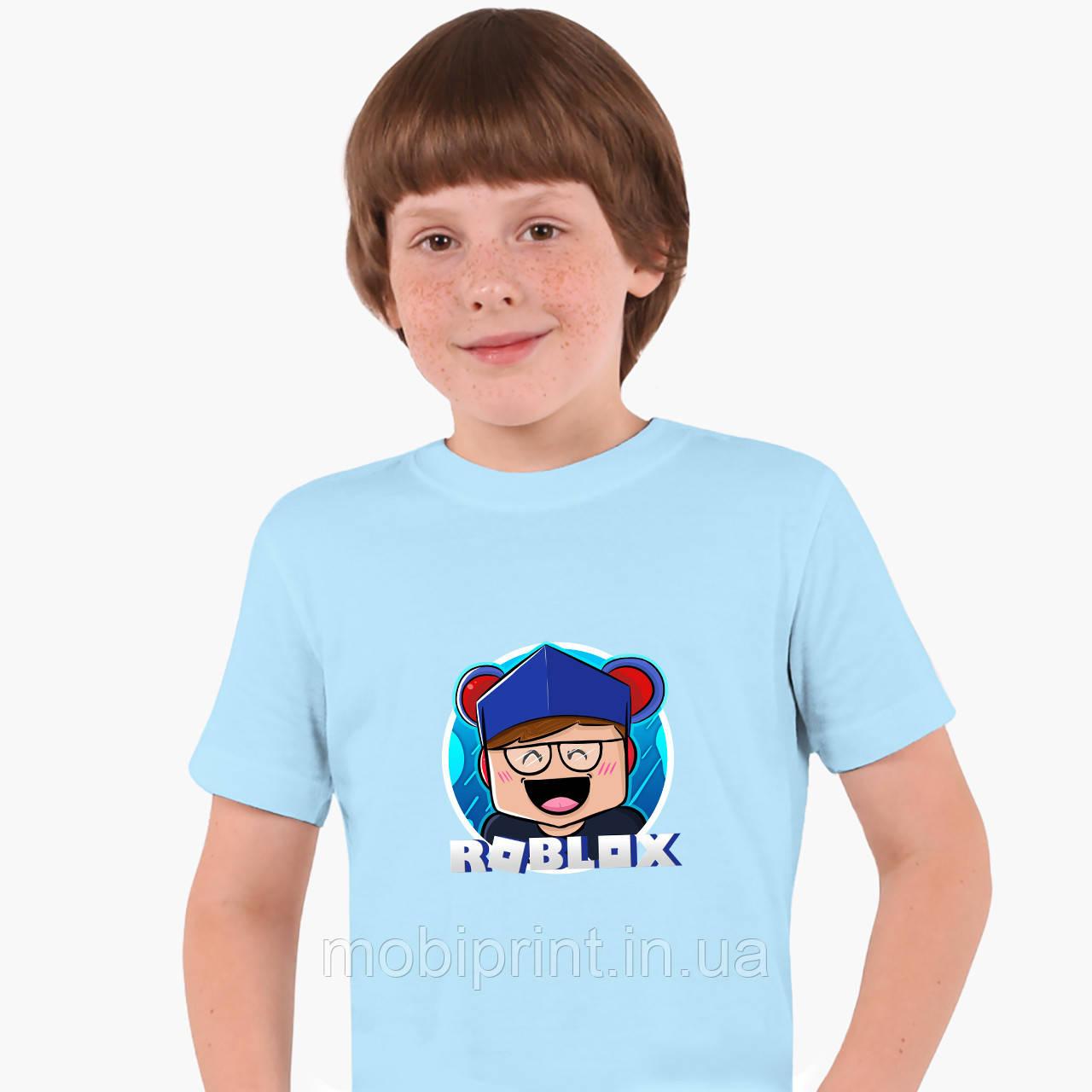 Детская футболка для мальчиков Роблокс (Roblox) (25186-1220) Голубой
