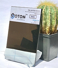 Полікарбонат монолітний Soton (Сотон), бронзовий 2 мм 2,05*3,05м