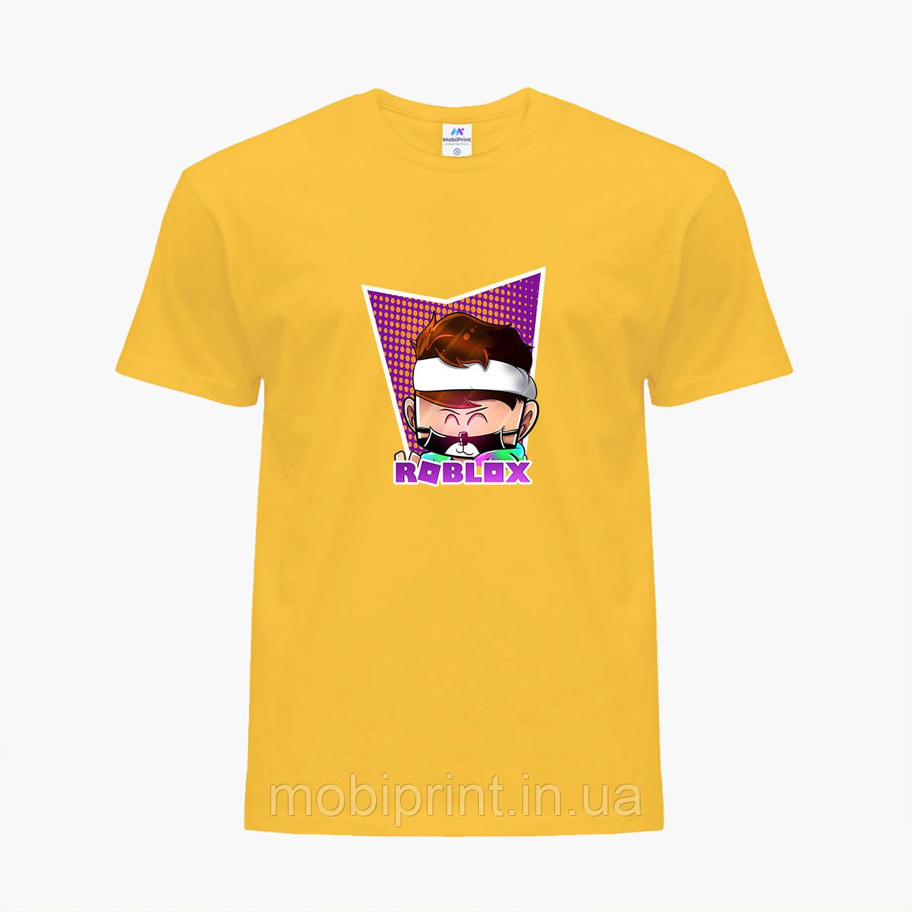 Детская футболка для мальчиков Роблокс (Roblox) (25186-1221) Желтый