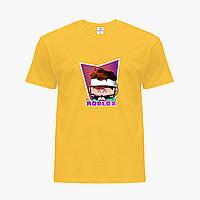 Детская футболка для мальчиков Роблокс (Roblox) (25186-1221) Желтый, фото 1