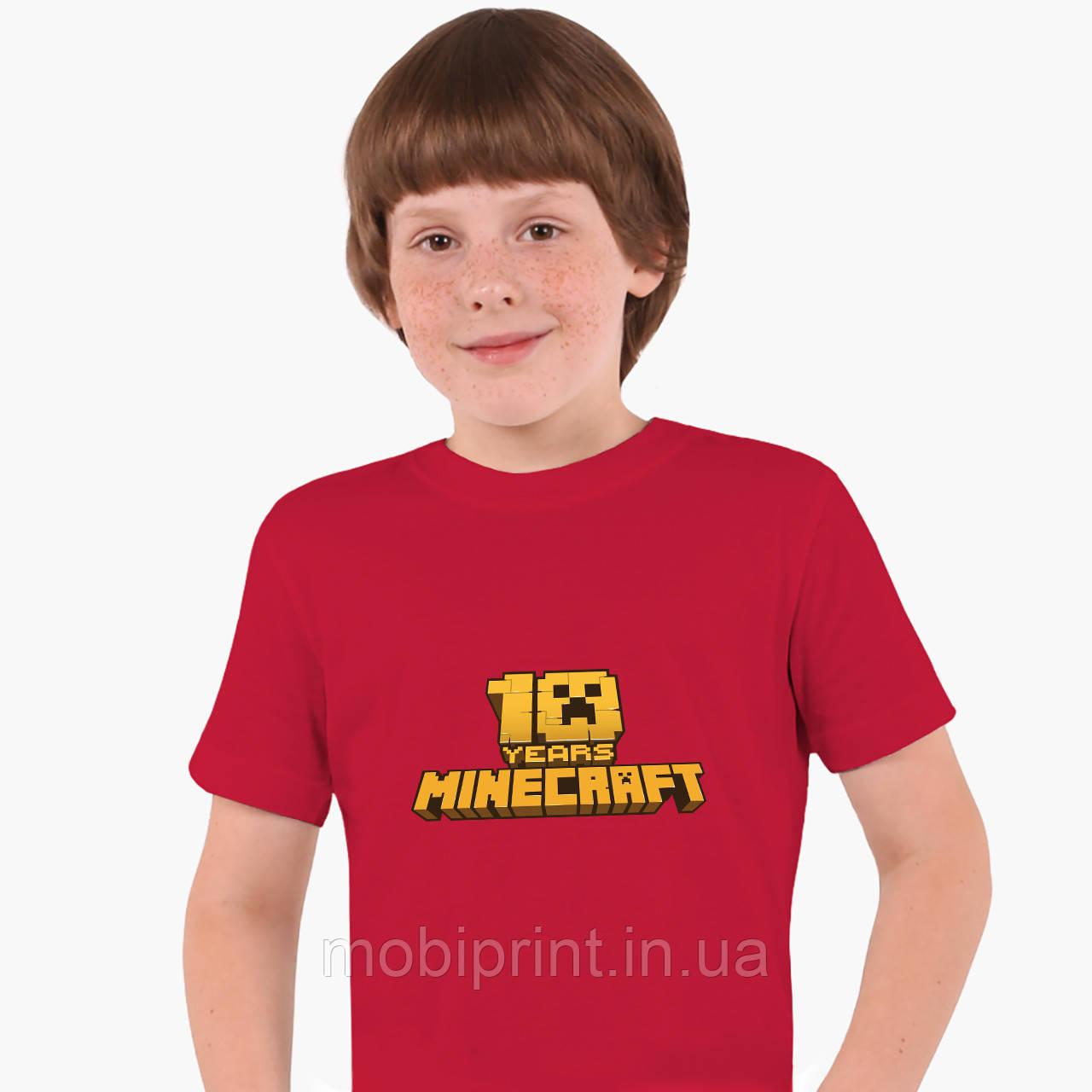 Детская футболка для мальчиков Майнкрафт (Minecraft) (25186-1171) Красный
