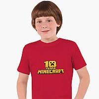 Детская футболка для мальчиков Майнкрафт (Minecraft) (25186-1171) Красный, фото 1