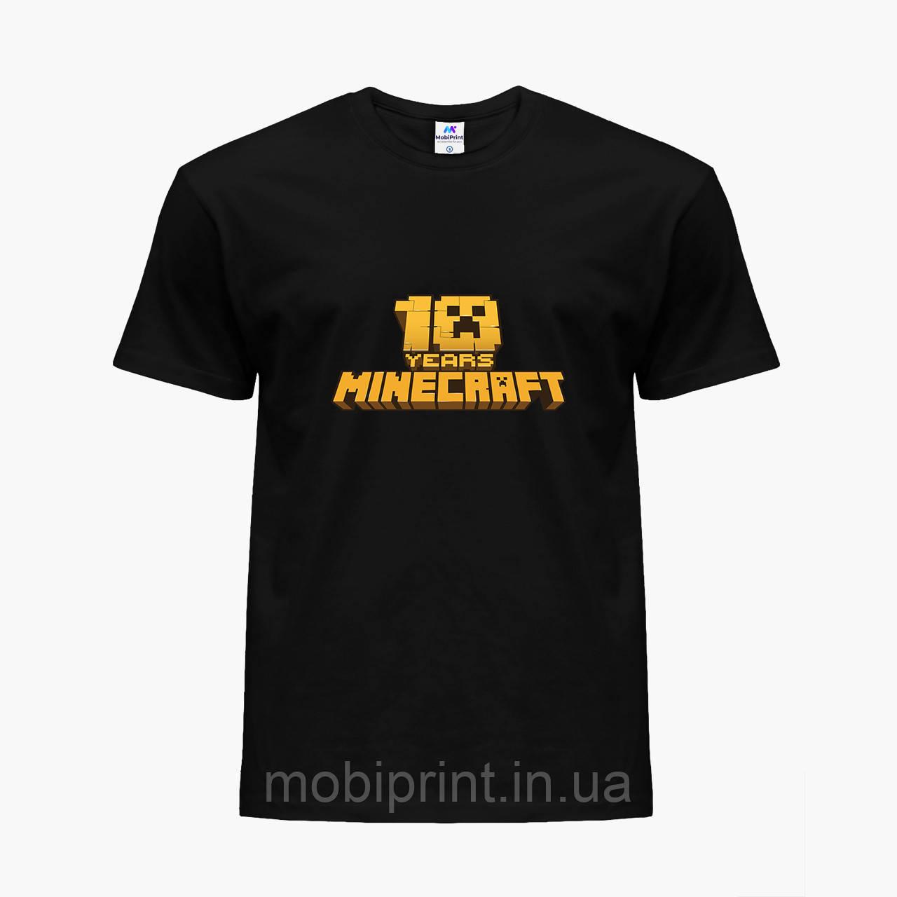 Детская футболка для мальчиков Майнкрафт (Minecraft) (25186-1171) Черный