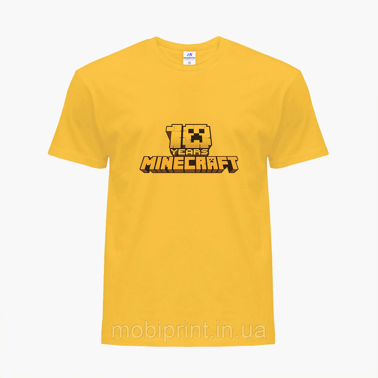 Детская футболка для мальчиков Майнкрафт (Minecraft) (25186-1171) Желтый