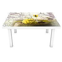 Интерьерная наклейка на стол Вино и Париж 02 (на мебель виниловая ПВХ пленка) Эйфелева башня 600*1200 мм, фото 1