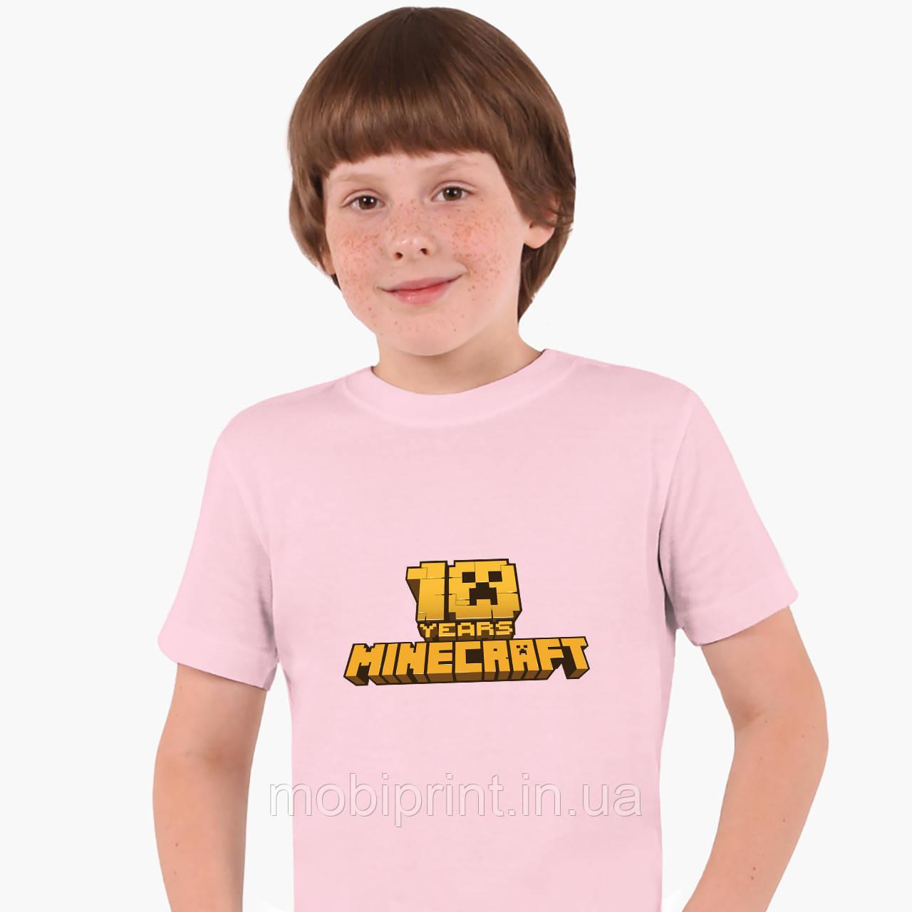 Детская футболка для мальчиков Майнкрафт (Minecraft) (25186-1171) Розовый