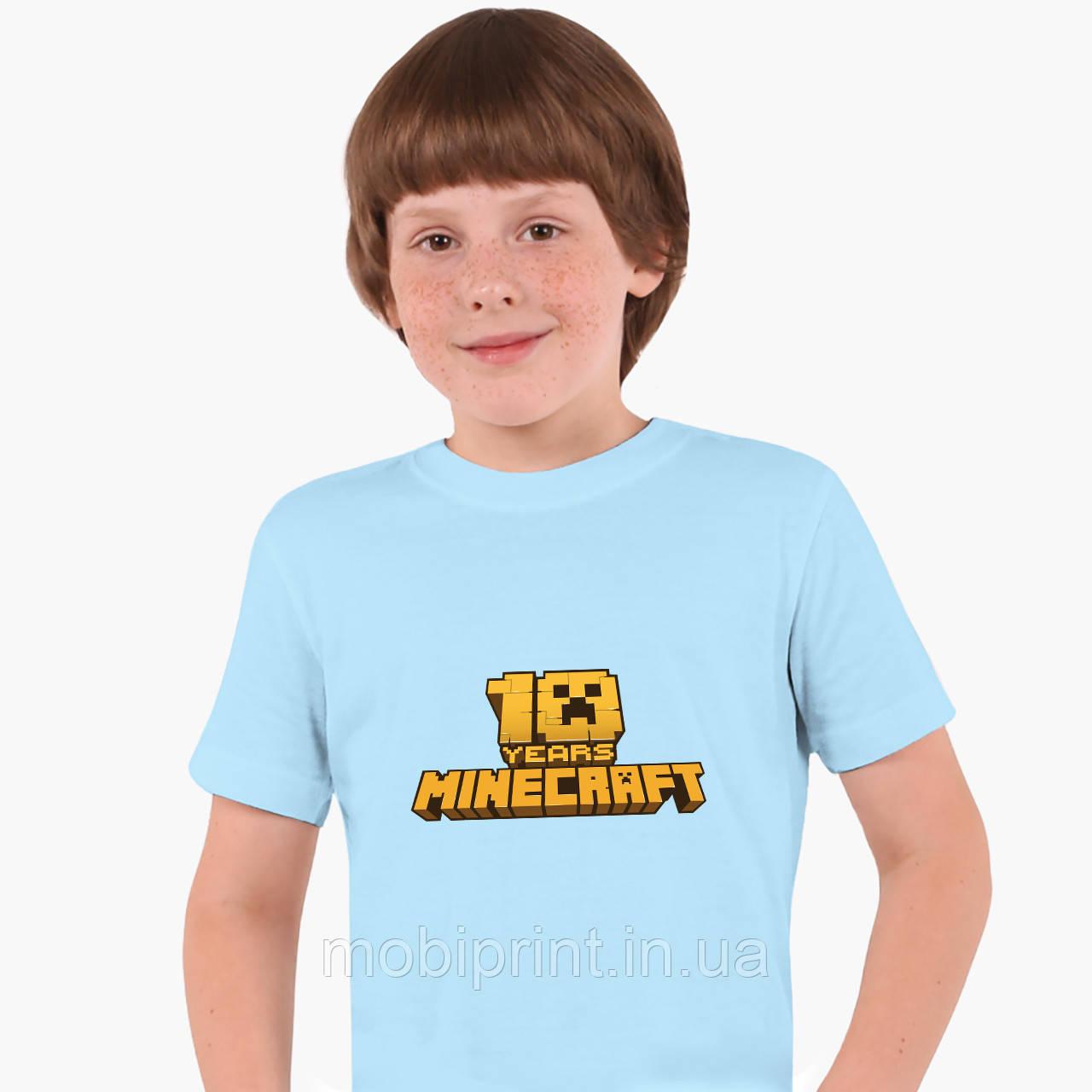Детская футболка для мальчиков Майнкрафт (Minecraft) (25186-1171) Голубой