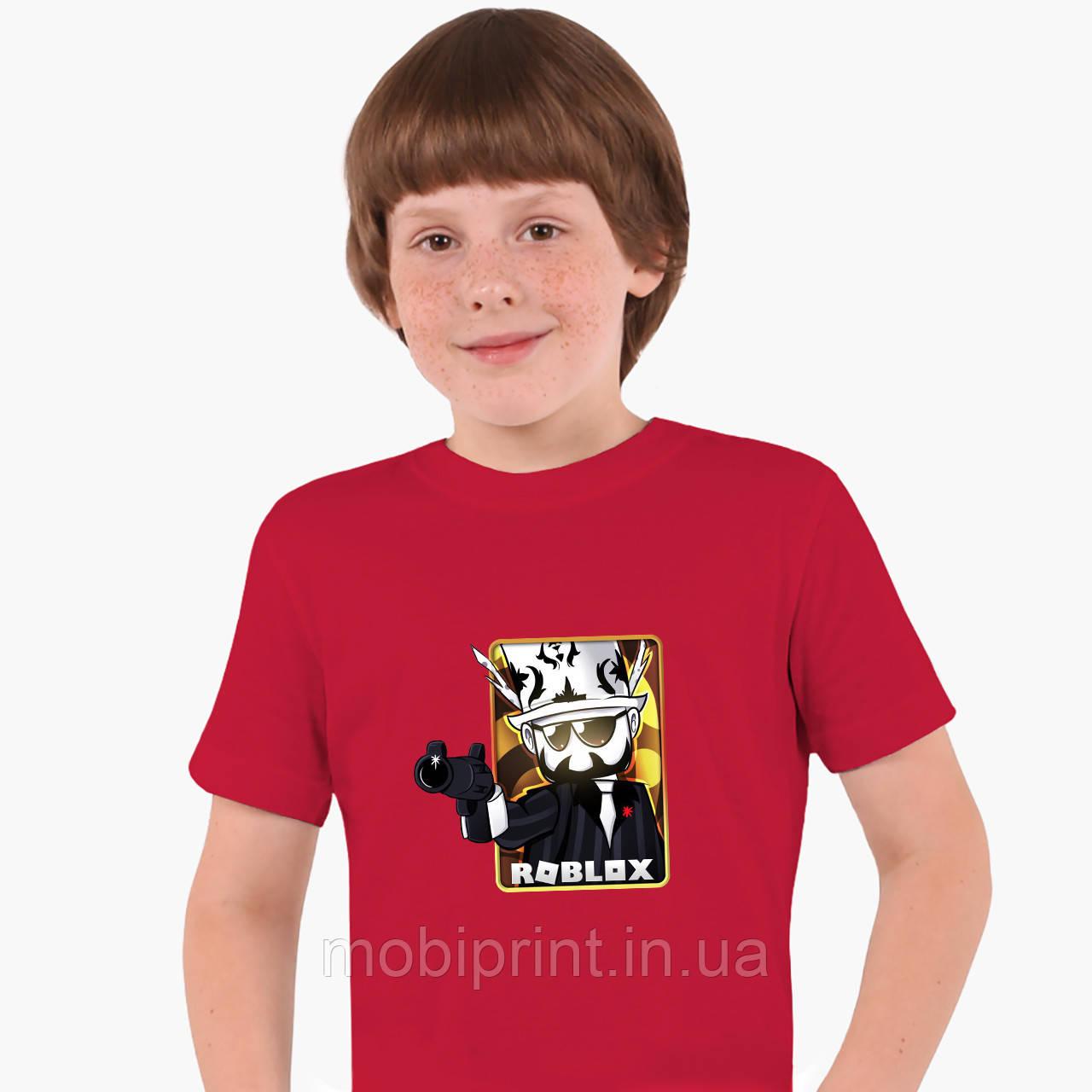 Детская футболка для мальчиков Роблокс (Roblox) (25186-1222) Красный
