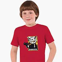 Детская футболка для мальчиков Роблокс (Roblox) (25186-1222) Красный, фото 1