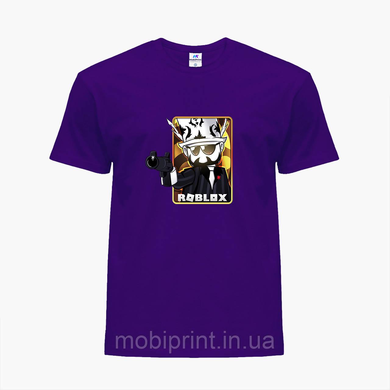 Детская футболка для мальчиков Роблокс (Roblox) (25186-1222) Фиолетовый