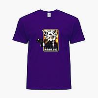 Детская футболка для мальчиков Роблокс (Roblox) (25186-1222) Фиолетовый, фото 1