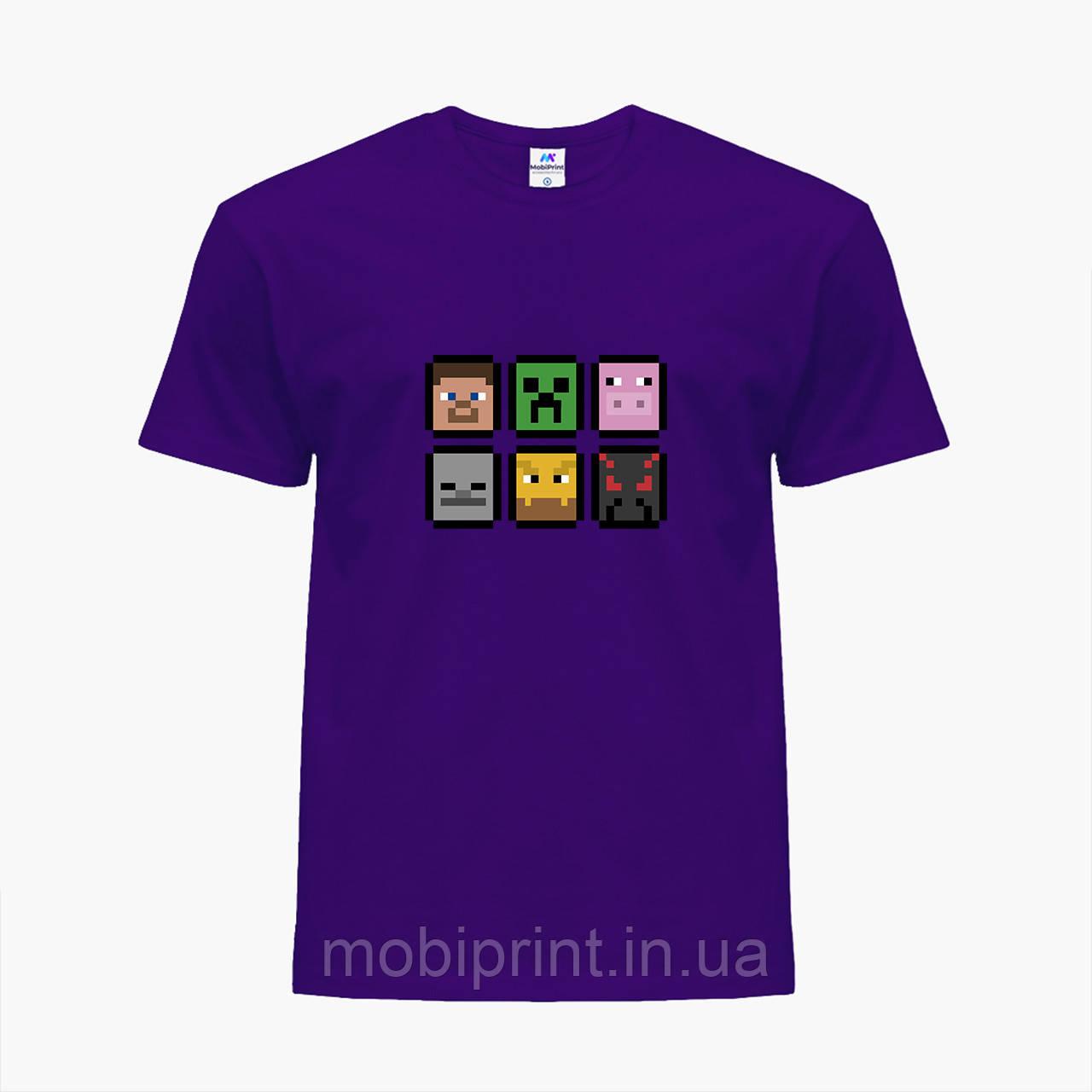 Детская футболка для мальчиков Майнкрафт (Minecraft) (25186-1173) Фиолетовый