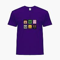 Детская футболка для мальчиков Майнкрафт (Minecraft) (25186-1173) Фиолетовый, фото 1