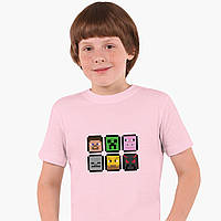 Детская футболка для мальчиков Майнкрафт (Minecraft) (25186-1173) Розовый, фото 1