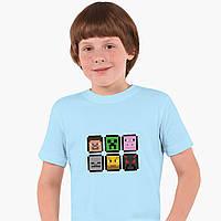 Детская футболка для мальчиков Майнкрафт (Minecraft) (25186-1173) Голубой, фото 1