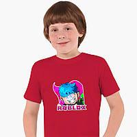 Детская футболка для мальчиков Роблокс (Roblox) (25186-1223) Красный, фото 1