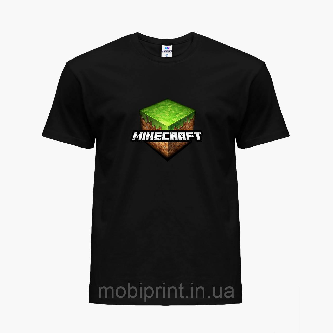 Детская футболка для мальчиков Майнкрафт (Minecraft) (25186-1174) Черный