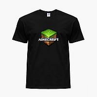 Детская футболка для мальчиков Майнкрафт (Minecraft) (25186-1174) Черный, фото 1