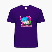 Детская футболка для мальчиков Роблокс (Roblox) (25186-1223) Фиолетовый, фото 1