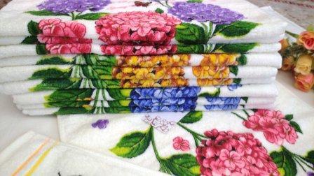Кухонные велюровые полотенца Размер 35/70 12шт в упаковке.