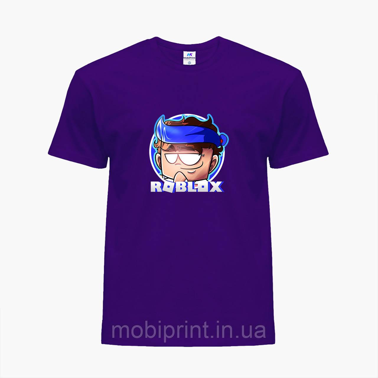 Детская футболка для мальчиков Роблокс (Roblox) (25186-1224) Фиолетовый