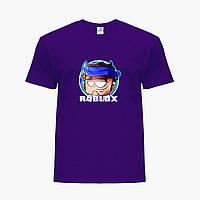 Детская футболка для мальчиков Роблокс (Roblox) (25186-1224) Фиолетовый, фото 1