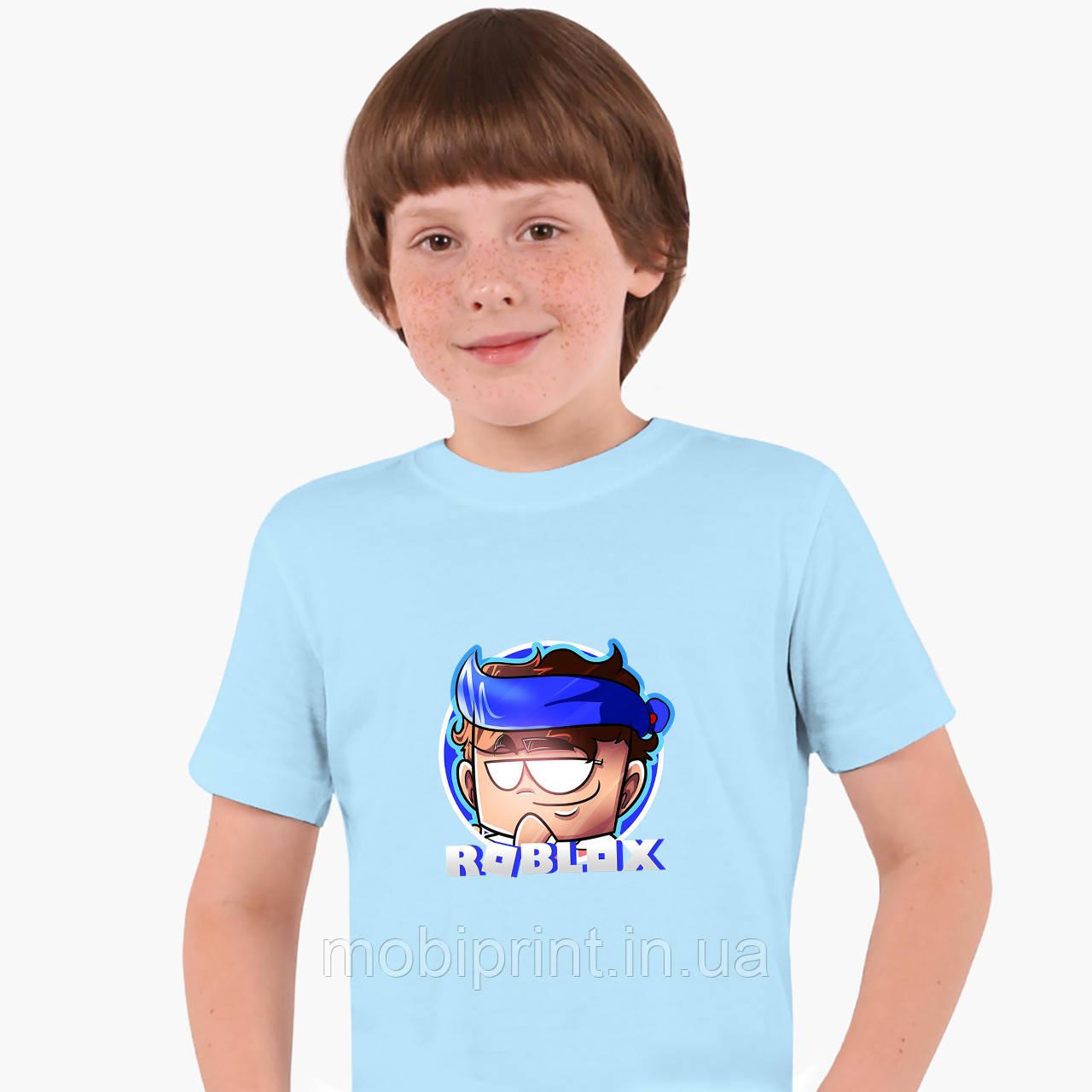 Детская футболка для мальчиков Роблокс (Roblox) (25186-1224) Голубой