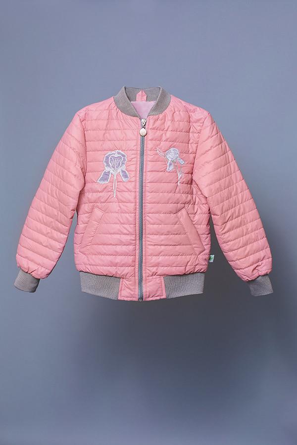 """Куртка-ветровка детская для девочки розовая """"Ирис"""" (пудра)"""