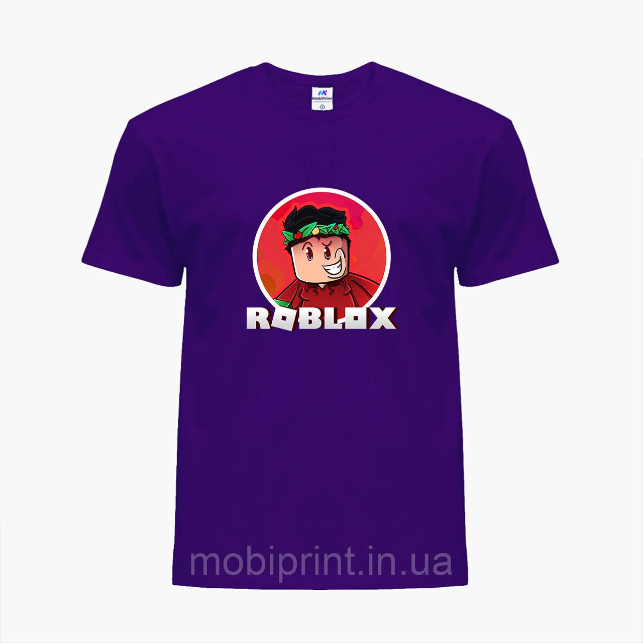 Детская футболка для мальчиков Роблокс (Roblox) (25186-1225) Фиолетовый