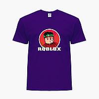 Детская футболка для мальчиков Роблокс (Roblox) (25186-1225) Фиолетовый, фото 1