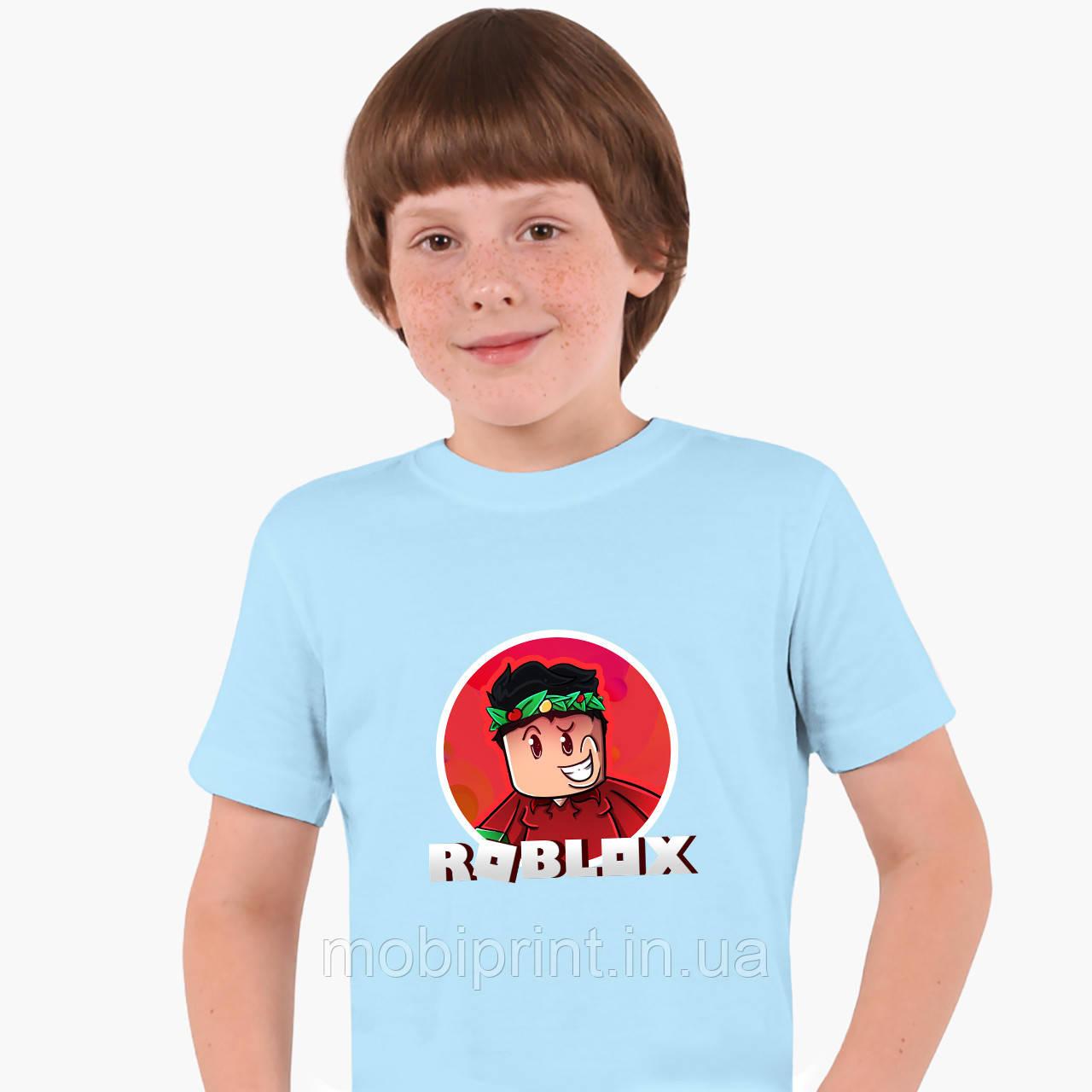 Детская футболка для мальчиков Роблокс (Roblox) (25186-1225) Голубой