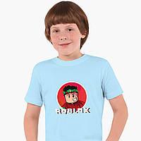 Детская футболка для мальчиков Роблокс (Roblox) (25186-1225) Голубой, фото 1