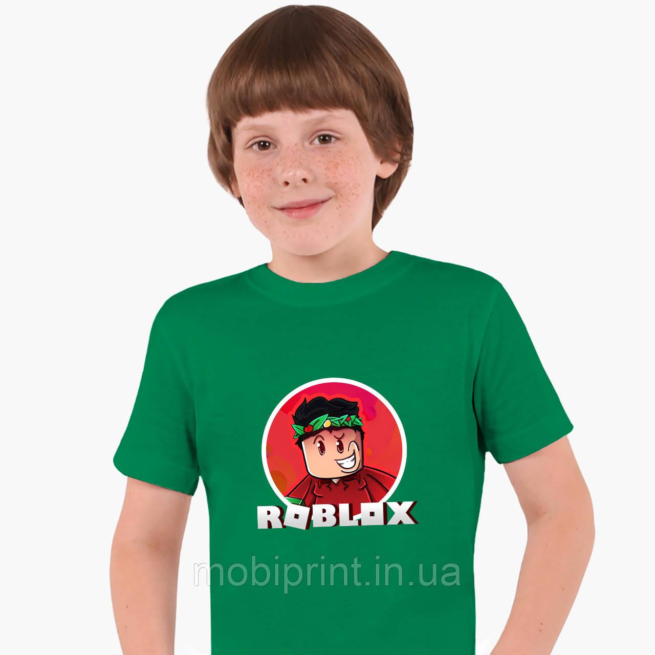 Детская футболка для мальчиков Роблокс (Roblox) (25186-1225) Зеленый