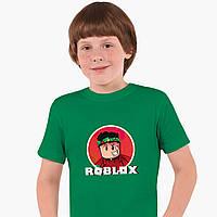 Детская футболка для мальчиков Роблокс (Roblox) (25186-1225) Зеленый, фото 1