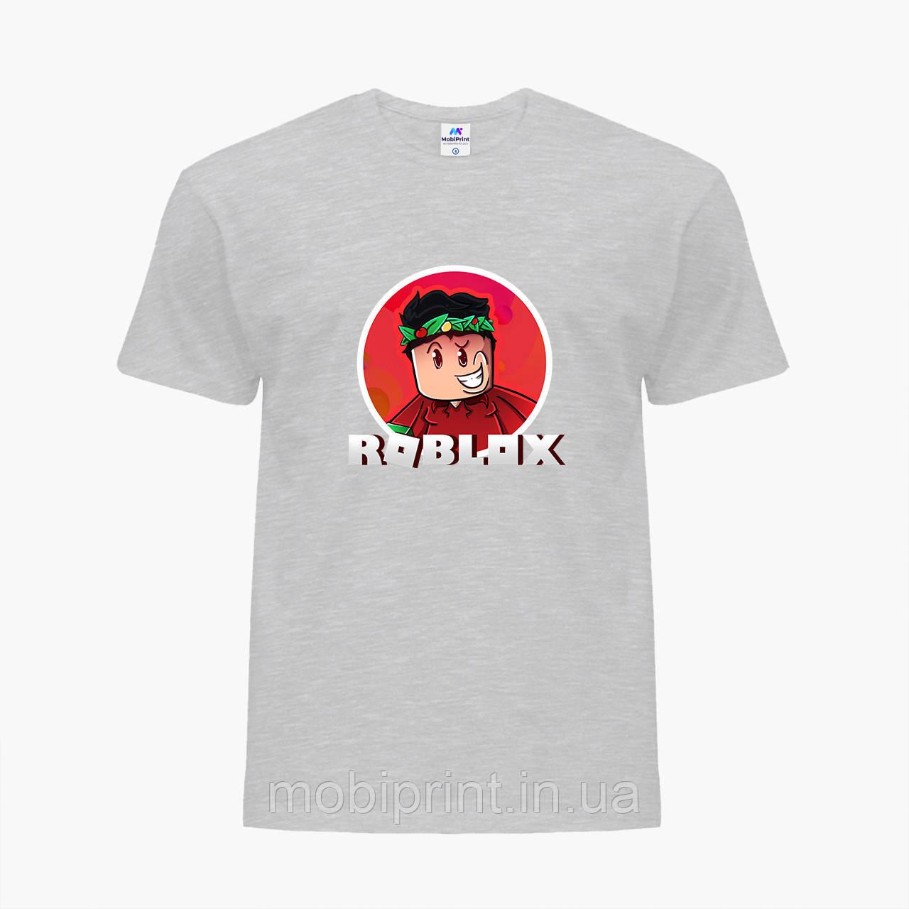 Детская футболка для мальчиков Роблокс (Roblox) (25186-1225) Светло-серый